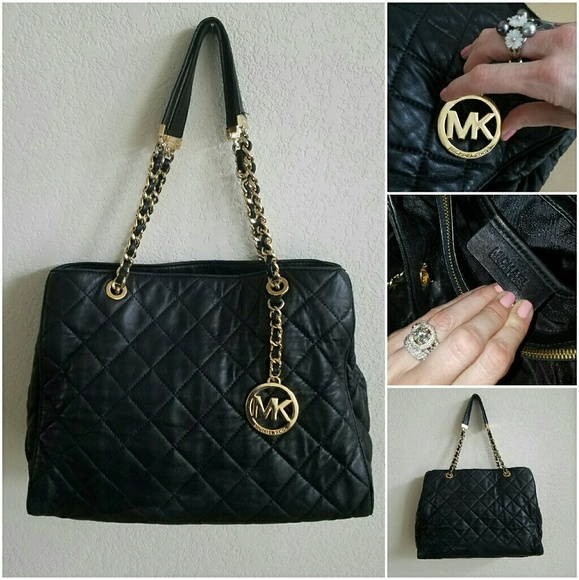 Michael Kors Bags | Quilted Gold Chain Strap